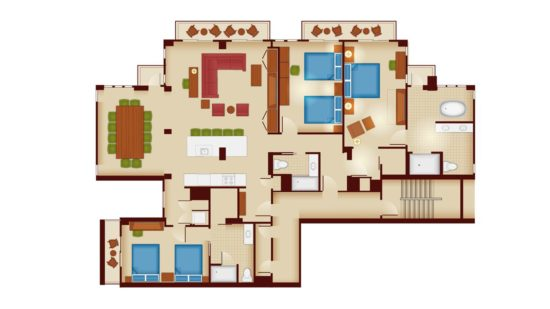 Disney's Copper Creek Grand Villa Floorplan
