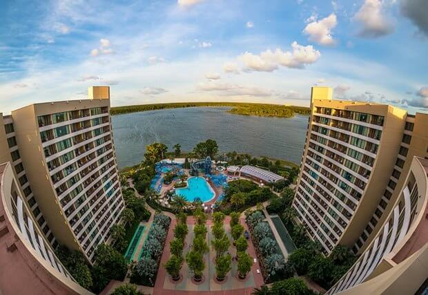 View of Bay Lake Tower Middle Pool