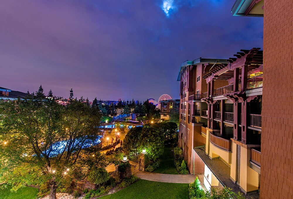 Disney's Grand Californian Courtyard at Night