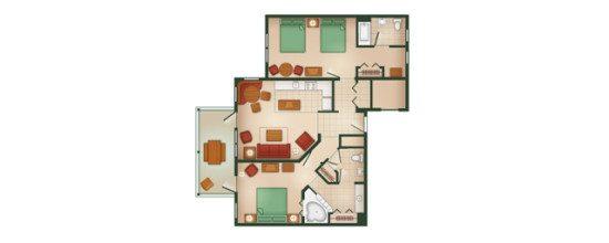 DVC Hilton Head resort two bedroom floorplan