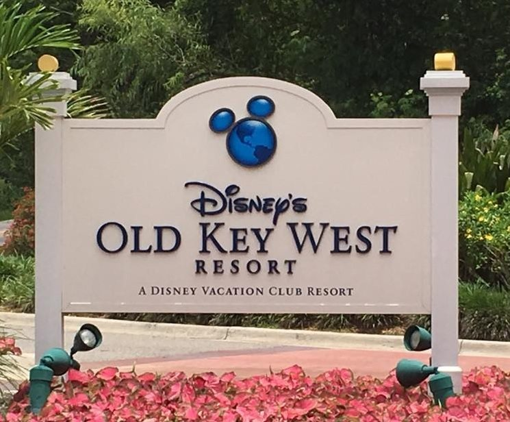 The sign welcoming visitors to Disney's Old Key West Resort