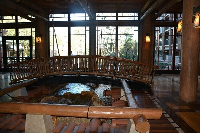 Indoor bridge at Disney Vacation Club's Boulder Ridge