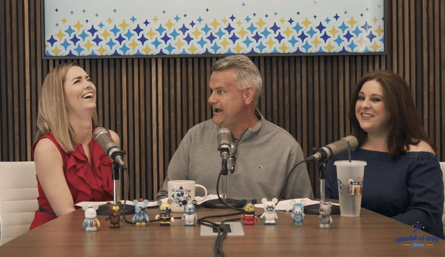 Hosts on the inaugural episode of the World of DVC Show